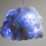Luminária imita nuvem e reproduz tempestade com trovoadas