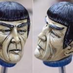 Senhor Spock em manopla de câmbio para hot rod vulcano