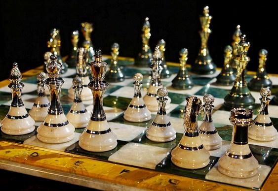 Fabricante de xadrez luxuoso