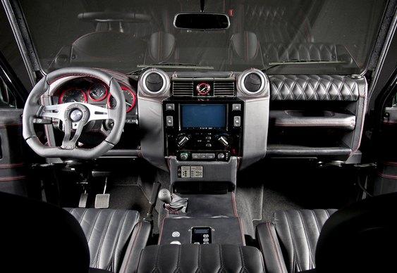 Interior de Land Rover custom
