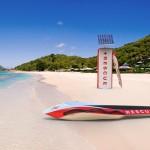 Prancha salva-vidas com motor elétrico movido a energia solar