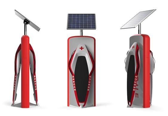 Posto de carregamento solar