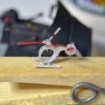 A miniatura super pequena de um helicóptero ultraleve pessoal
