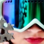 Chaveiro com kit ferramenta portátil inspirado em floco de neve