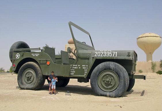 Jipe militar enorme