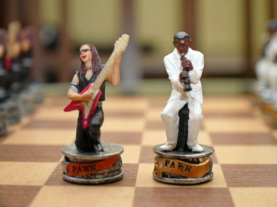 Peões de jogo de xadrez