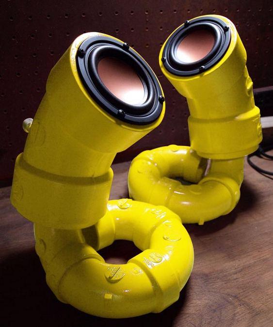 Caixas de som de PVC
