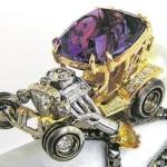 Anéis envenenados: carros hot rod de ouro e pedras preciosas