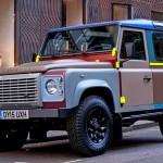 Jipe Land Rover Defender pintado com 27 cores diferentes