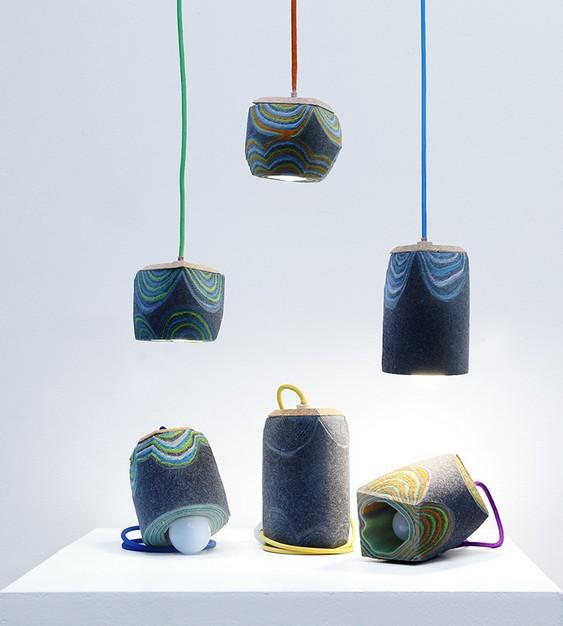 Luminárias de feltro