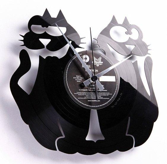 Relógio com gato preto