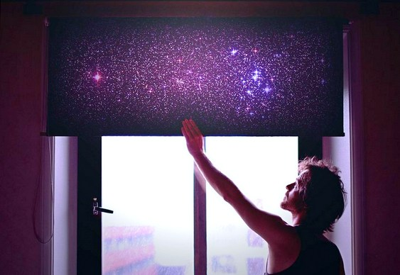 Cortina com estrelas