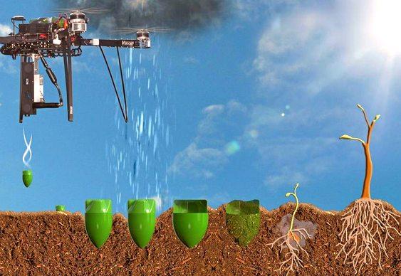 Quadricóptero semeador