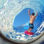 Joguinho magnético para brincar de surfista entubando onda