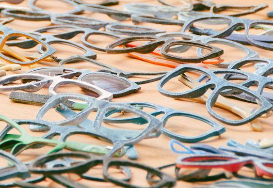 Armações de óculos recicladas