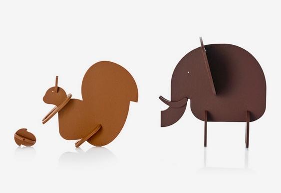 Esquilo e elefante