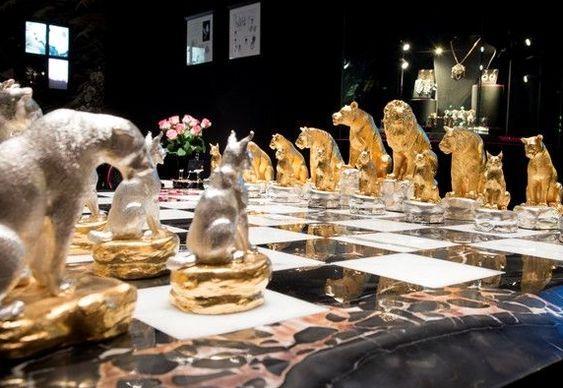 Xadrez de ouro e prata
