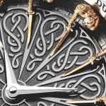 Relógio Excalibur com Rei Arthur e Cavaleiros da Távola Redonda