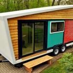 Casinha linda para solteiros em reboque no estilo trailer
