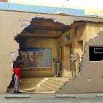 Mural 3D revela templo maia em parede desmoronada de loja