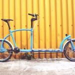 Bicicleta para transporte de carga no centro de gravidade