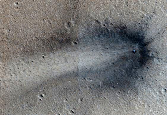 Queda de OVNI marciano