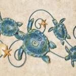 Tartarugas marinhas decoram paredes da casa de praia