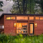 Trailer lindo de madeira para quem gosta de viver sozinho