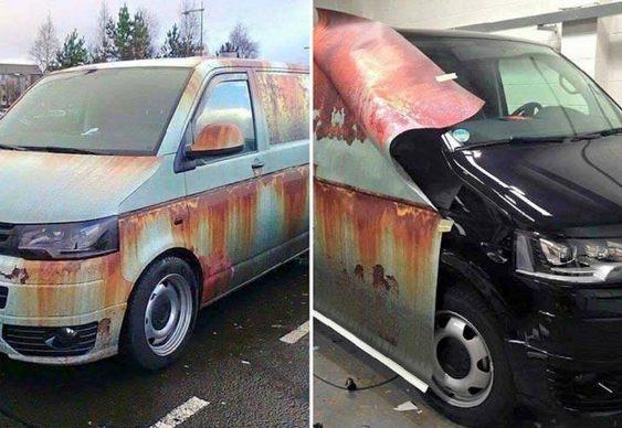 Ferrugem falsa para automóveis