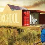 Projeto de escola para áreas carentes com dois contâineres