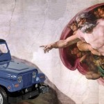Criação do Jeep em fábula revelada por anúncio comercial divino