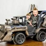 Jeep infantil tipo Mad Max para a criançada curtir o Halloween