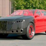 Carro elétrico de luxo carrega a bateria com turbina eólica