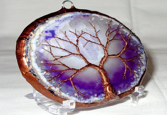 Árvore da vida em arame de cobre
