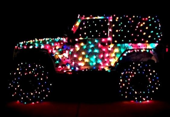 Decoração de Natal automotiva