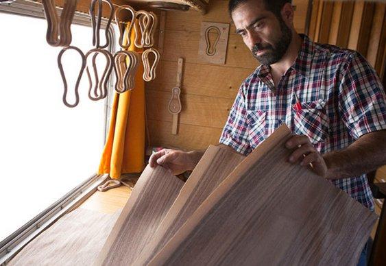 Chaveiro de madeira