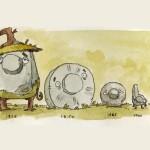 A incrível aventura animada de uma pedra através do tempo