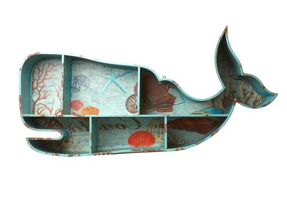 Móvel de baleia vintage