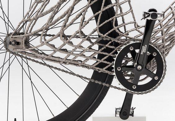Bike com quadro aramado