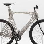 Bicicleta rendada em 3D a pontos de solda de aço inox