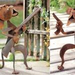 Cães de guarda armados para tomar conta do seu jardim