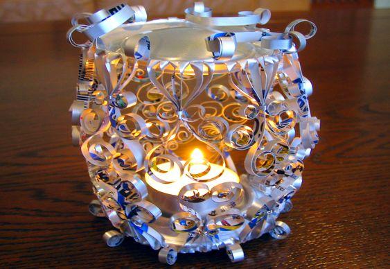 Reciclagem artística com latinhas de alumínio