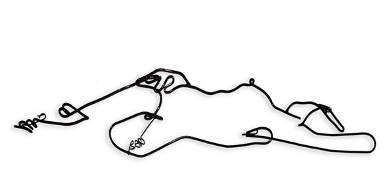 Corpo modelado em arame