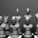 Epidemia zumbi contamina as peças de um jogo de xadrez