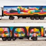 Arte movimenta estradas em lonas para carrocerias de caminhões