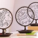 Display de metal para joias e bijuterias com signos do Zodíaco