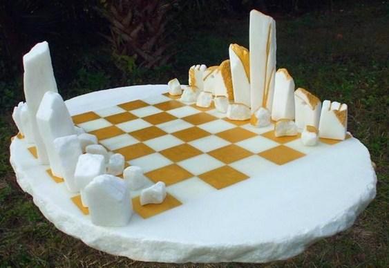 Xadrez temático de pedras