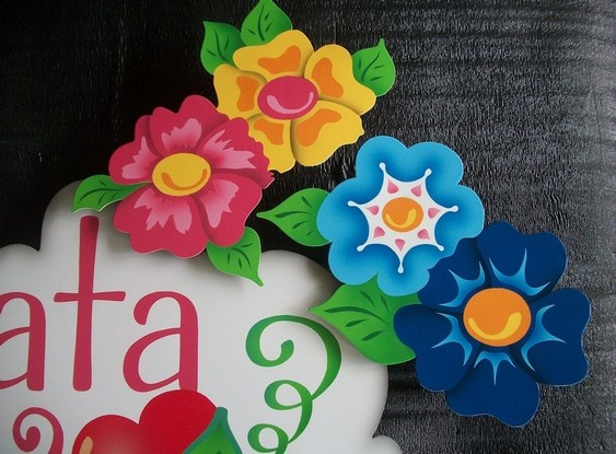 Painel floral em 3D