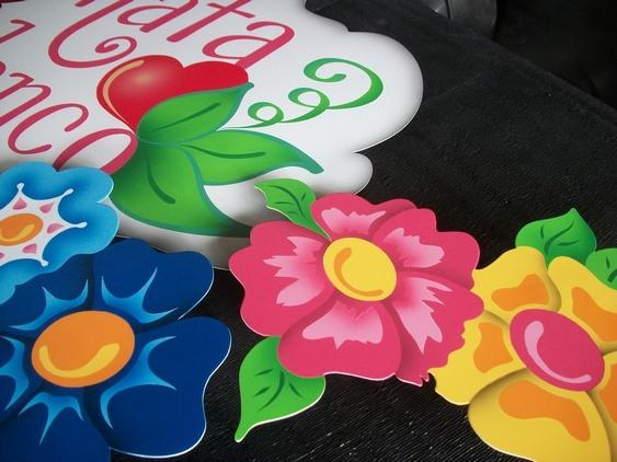 Letreiro floral artístico