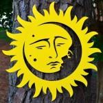 Painel Sol & Lua para fixar em paredes ou pendurar no jardim